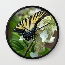 Yellow Tiger Swallowtail Wall Clock
