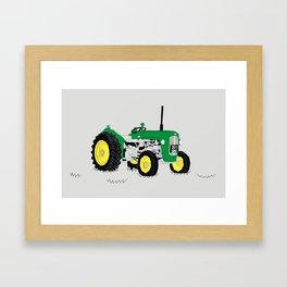 Vintage Tractor Green Framed Art Print