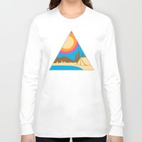 camping Long Sleeve T-shirts featuring Camping by Wendy Ding: Illustration