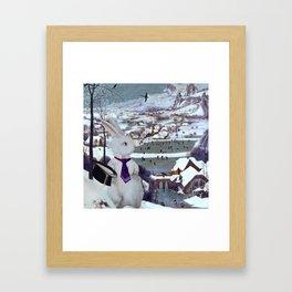 Rabbit in the Snow Composite - Pieter Bruegel the Elder Framed Art Print