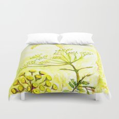 Tansy and Great mullein Duvet Cover