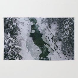 Frozen River Gorge in Vermont Rug