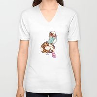 monty python V-neck T-shirts featuring ball python by chelsea canny