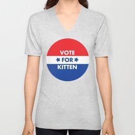 Vote For Kitten Unisex V-Neck