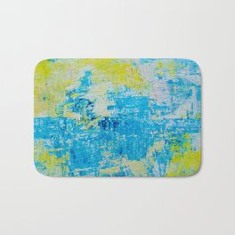Abstract Acrylic Painting Bright Day Bath Mat