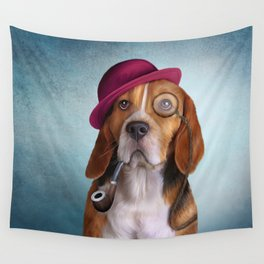 Drawing Dog Beagle Wall Tapestry