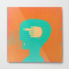 handhead Metal Print