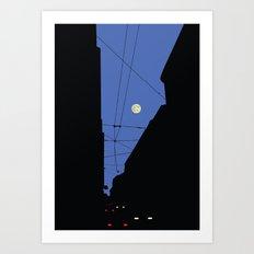 Moon lines Art Print