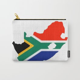 South Africa Map with South African Flag Carry-All Pouch