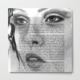 White Block I Metal Print