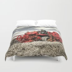 The Red Combine Duvet Cover