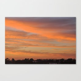 Tangerine Sunset Canvas Print