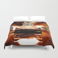 honda Duvet Covers featuring HONDA NSX,RACING CAR,NIGHTMARE by ira gora