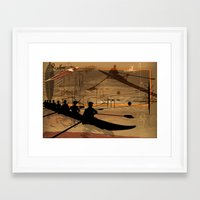 rowing Framed Art Prints featuring Rowing by Robin Curtiss