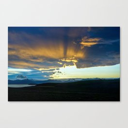 Sunset - Iceland - Travel Photography - Drawn Voyage Canvas Print