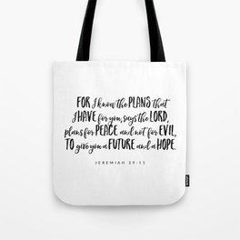 Jeremiah 29:11 - Bible Verse Tote Bag