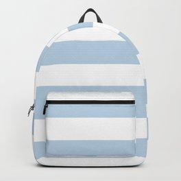Pale aqua - solid color - white stripes pattern Backpack