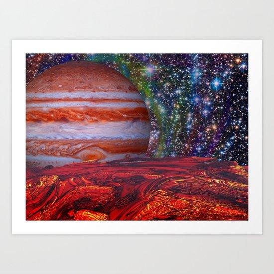 Looking At Jupiter Art Print
