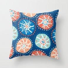 Flower Puffs Throw Pillow