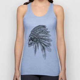 Indian Chief Skull Unisex Tank Top
