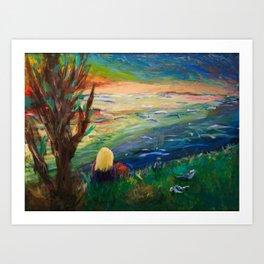 Lake Landscape Art Print