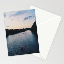 Twilight Kayakers Stationery Cards