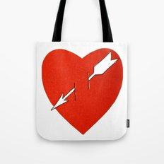 Heart and arrow. Tote Bag