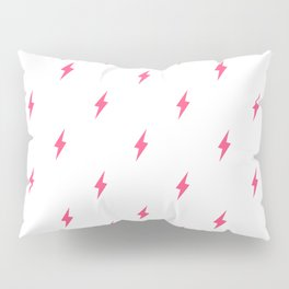 Lightning Bolt Pattern Pink Pillow Sham