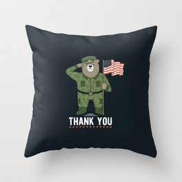 Veteran's Day Throw Pillow