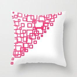 design blocks pink on white Throw Pillow