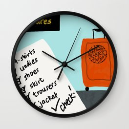 My packing list Wall Clock