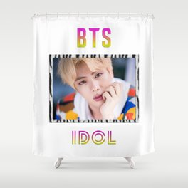 BTS Song IDOL Design - Jin Shower Curtain