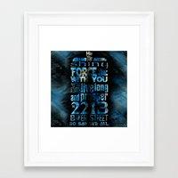 fandom Framed Art Prints featuring Fandom Motto by Tracey Gurney