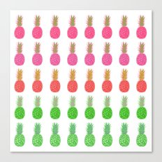 Pineapples passion fruit Canvas Print