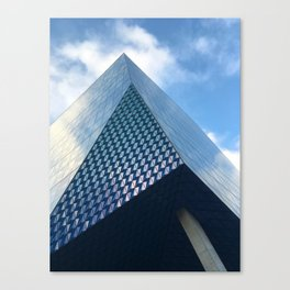 Pyramid, clouds Canvas Print