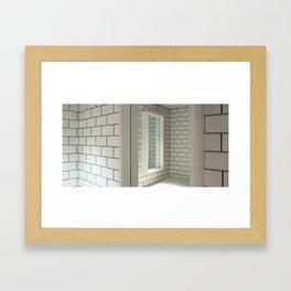 Tiles & Mirrors Framed Art Print