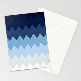 Blue geometric pattern Stationery Cards