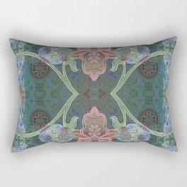 Elegant Detailed Orchid Meditation Pattern Rectangular Pillow
