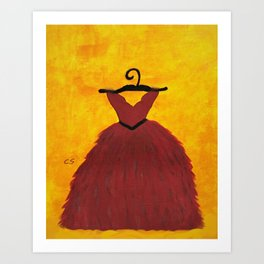 RED in Acrylics Art Print