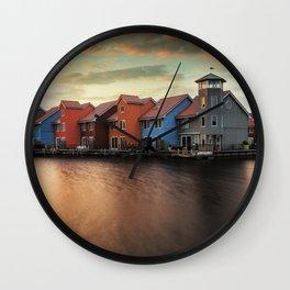 A Dutch Color Palette Wall Clock