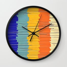 Shredded Stripes Wall Clock