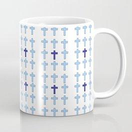 Christian Cross 26- blue Coffee Mug