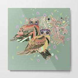twin owls Metal Print