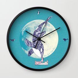 Kiss Good Night - Orca I Wall Clock