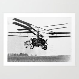 Helicopter Invention Art Print