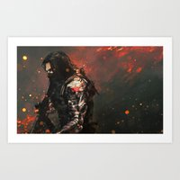 blood Art Prints featuring Blood in the Breeze by Alice X. Zhang