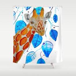 Gerry the Giraffe  Shower Curtain