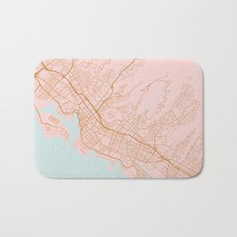 Honolulu map, Hawaii Bath Mat