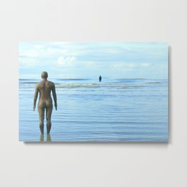 Iron Men as the tide returns Metal Print