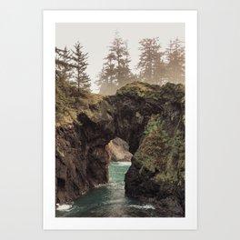 Fog at Natural Bridges Art Print